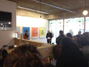 Lecture de François Deck et Raphaële Jeune lors du lancement d'Optical Sound #2 à L'Endroit, Rennes